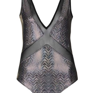 **Holographic Mesh Insert Body by Jaded London - Sale & Offers