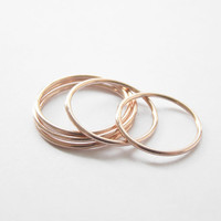 Rose gold thin ring,stack ring,sterling silver,1mm,knuckle ring,stack ring,minimalist Jewelry,plain ring,birthday gift,rings party,RGR84