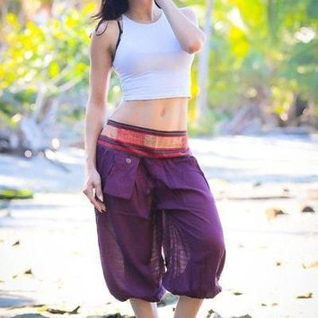 Purple Aladdin Pants