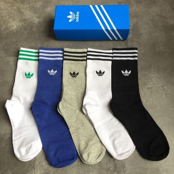 Adidas Fashion 5 pics of set long Sock Style #124