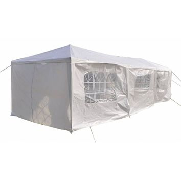 3 x 9m Eight Sides Two Doors Two Bedrooms Waterproof Foldable Tent White