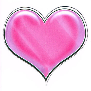 Pink Heart Car Decal