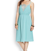 LOVE 21 Strappy Cami Midi Dress Seafoam