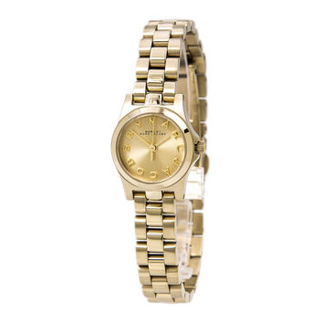 Marc by Marc Jacobs MBM3199 Women's Henry Dinky Gold Dial Gold Plated Watch
