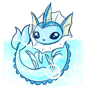 Vaporeon Floaty Art Print by IdentityPollution | Society6