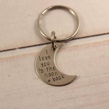 """""""Love you to the moon and back"""" Keychain - READY TO SHIP - SALE"""