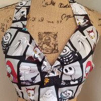 Nightmare  - before  - Christmas  - jack  - skellington  - sally  - pin up - rockabilly - gothabilly - geek - chic - fashion - halter