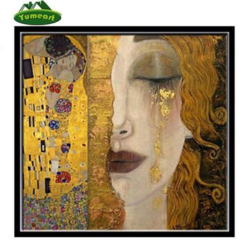 3D Diamond Painting Cross Stitch Pattern 5D Diamond Embroidery Gustav KLIMT Mosaic Resin Full Drill Home Decor DIY Painting