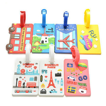Luggage Tags Strap Name Address ID Suitcase Baggage Travel Label Tag HUUS