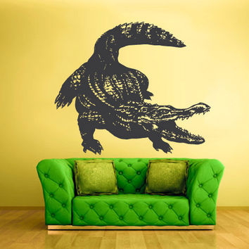 rvz1531 Wall Vinyl Sticker Decals Decor Alligator Crocodile Croc Thailand Skin