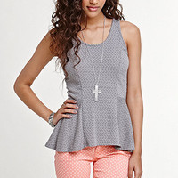 Kirra Textured Peplum Tank at PacSun.com