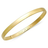 kate spade new york Bracelet, 12k Gold-Plated Heart of Gold Idiom Bangle Bracelet Jewelry & Watches - Fashion Jewelry - Macy's