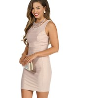 Champagne Bel Air Bodycon Dress