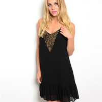 Night Out With the Girls Black Sequin Dress