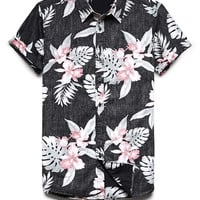 Reverse Tropical Print Shirt