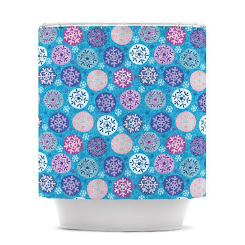 "Julia Grifol ""Floral Winter"" Shower Curtain"
