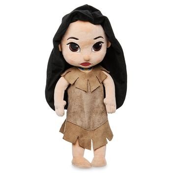 "Licensed cool Disney Store Animators 13"" Princess Pocahontas Indian Plush Toddler Toy Doll NWT"