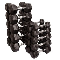 Body Solid Rubber Hex 5-50 lb Dumbbell Set - Dick's Sporting Goods