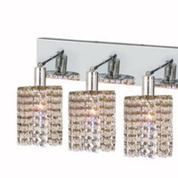 Wiatt - Wall Fixture Oblong Canopy with Round Pendant (4 Light Contemporary Crystal Vanity Fixture) - 1092W-O-R