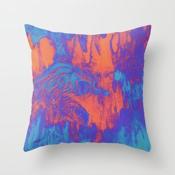 acidwash Throw Pillow by DuckyB