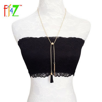 2016 New Fashion Designer Gold Silver Chain Leather Tassel Moveable Bead Pendants & Necklaces for woman collier Bijoux