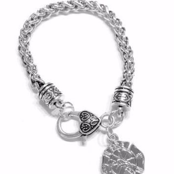 Firefighter Maltese Gift Fireman Wife Daughter Mom Fire Dept Charm Bracelet