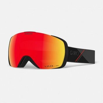 Giro - Contact Black Red Sport Tech Snow Goggles / Vivid Ember + Vivid Infrared Lenses
