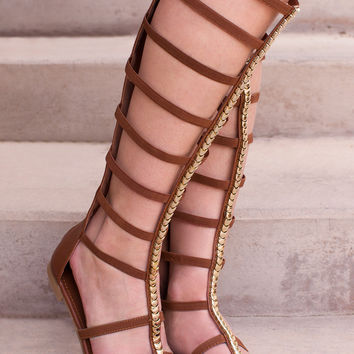 Bobbi Gladiator Sandals - Tan