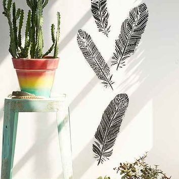 Plum & Bow Henna Feathers Wall Decal Set