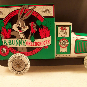 Vintage Bugs Bunny Toy Carrot Truck by Oldtonewjewels on Etsy