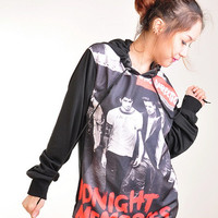 One Direction 1D Midnight Memories Punk Rock Hoodie Jacket Biker Sweater Tops Women Girl Sz S,M,L