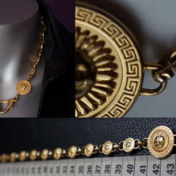 Authentic Vintage Versace Chain Necklace From The 80's (Gianni Versace)