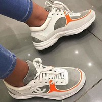 Chanel Women Fashion Leather Sneakers Sport Shoes