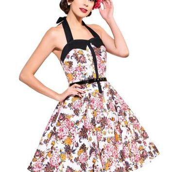 Halter Sleeveless Printed Women's Vintage Dress