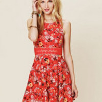 Free People Floral Print Daisy Fit and Flare at Free People Clothing Boutique