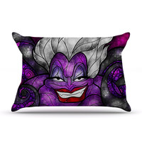 "Mandie Manzano ""The Sea Witch"" Dark Purple Pillow Case"
