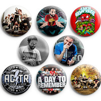 A Day To Remember Pinback Buttons Badge 1.25 inches (Set of 8) NEW