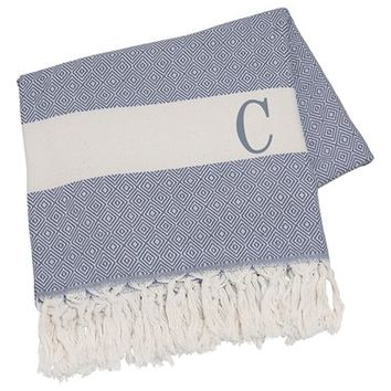 Cathy's Concepts Personalized Turkish Cotton Throw - Blue