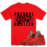 BORN HUSTLER- Jordan Red Suede 5