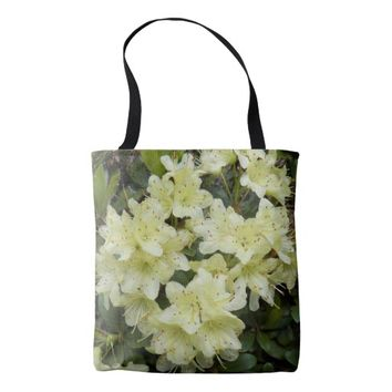 Yellow Rhododendrons Floral Tote Bag