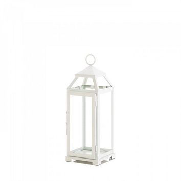 Medium Country White Open Top Lantern