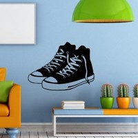 Wall Decals Sports Footwear Sneakers Decal Vinyl Sticker Home Decor Bedroom Interior Window Decals Living Room Art Murals Chu1311