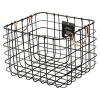 Small Milk Crate Wire Basket - Antique Pewter with Copper Colored Handles - Threshold™