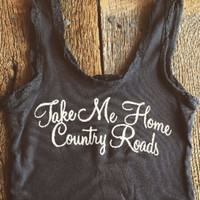 COUNTRY ROADS LACE TANK - BANDIT BRAND
