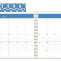 July 2015 - June 2016 Susy Jack Circles Monthly Planner 8x10