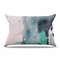 "Iris Lehnhardt ""Abstract Color"" Pastel Painting Pillow Case"
