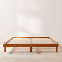 Luka Wood Platform Bed | Urban Outfitters