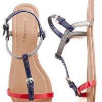 ModCloth Nautical Set It Straightforward Sandal