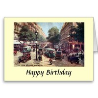 Birthday Card - Paris, Blvd Monmartre