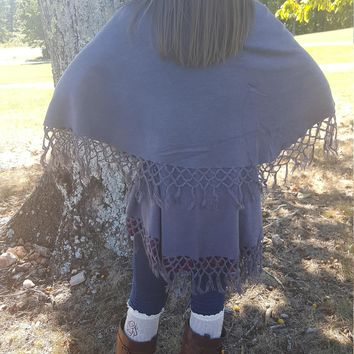 CLEARANCE Poncho / non wool Afgan/ Vest - One size fits most.